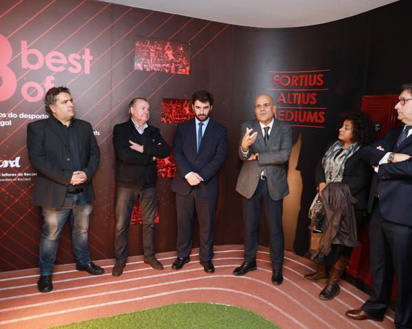 Ministro da Educação na inauguração da exibição 8 Best of: Momentos do Desporto